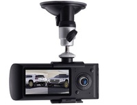 Автомобильный видеорегистратор Drop shipping 2.7 inch LCD Dual lens Car DVR with Google map, G-Sensor, GPS function, Front lens 140 degrees vehicle DVR