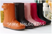 Мужская обувь 2012 new children First layer of cowhide boots genuine leather parent-child shoes boots B0496