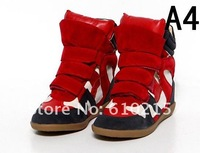 Женские кеды 2012 Isabel Marant womens multicolour boots sneakers shoes euro size 34-40 high heel shoes and reatail drop shipping
