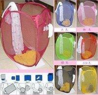 Корзина для хранения Reinforced nylon mesh laundry basket / laundry basket for clothes airing basket can be folded