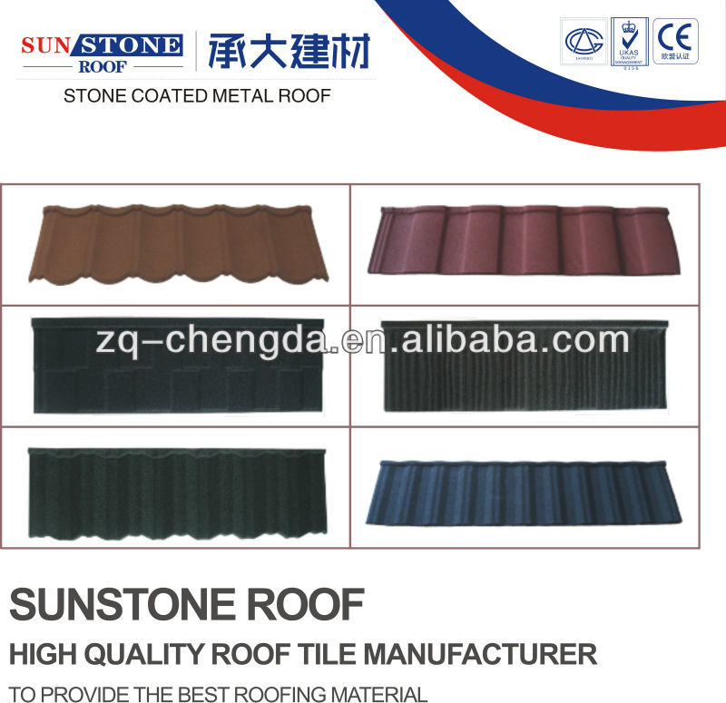 New Brand/ Stone Coated Metal Roofings Tile Type