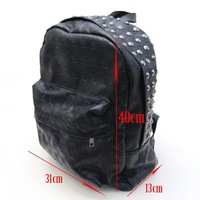 Рюкзак Western Punk Skull PU Leather Women Backpack Shoulders Book School Bag Men Women[04070139