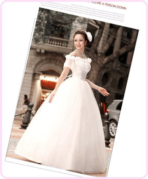 Free shipping! Elegant French lace retro ladies princess flowers new skirt wedding dress HS1526