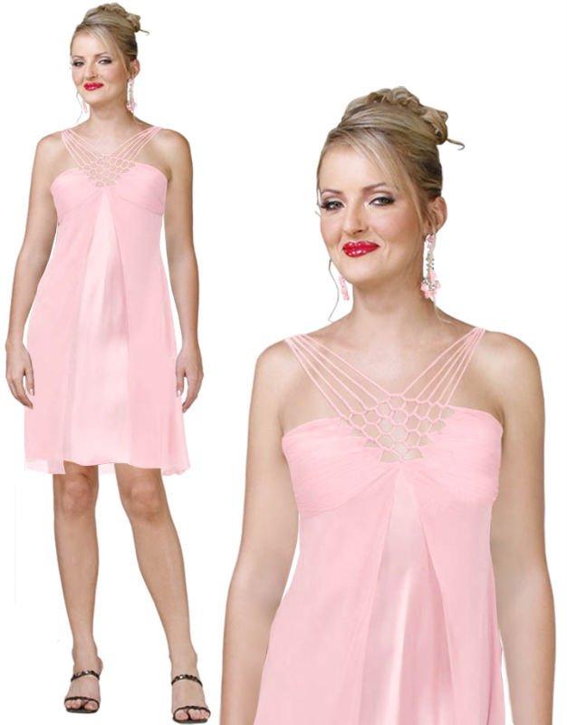 E507 Fashional A-line style backless chiffon cocktail dress