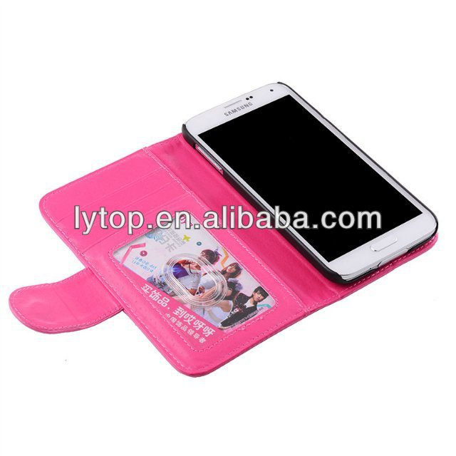 For Samsung S5 Leather Case With Card Slots