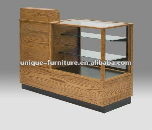 Combinação caixa registradora suporte e caixa balcão vitrine de