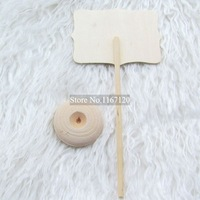 Классная доска 36pcs/lot New Wooden Mini Blackboard Chalkboard on the stick Place holder For Wedding Party Decorations