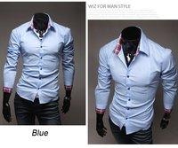 Fashion Men's Luxury Stylish Slim Fit Casual Dress Shirts 3 Colours 4 Size