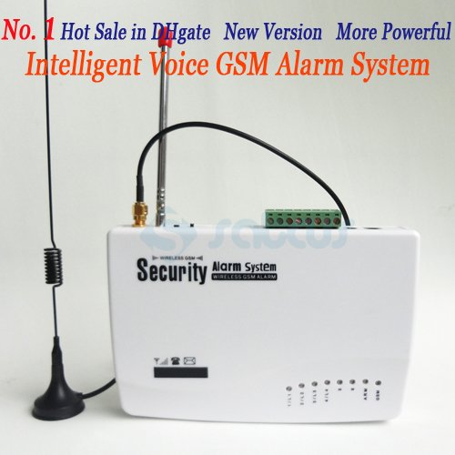 No.1 HOT SALE GSM HOME BURGLAR ALARM SYSTEM New Version More Powerful Double Antenna Real Voice Prompt