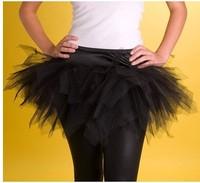 Sexy Lady Girls Tutu Skirt Multicolor Mesh Retro Skirt Wedding Dress Inner Skirt