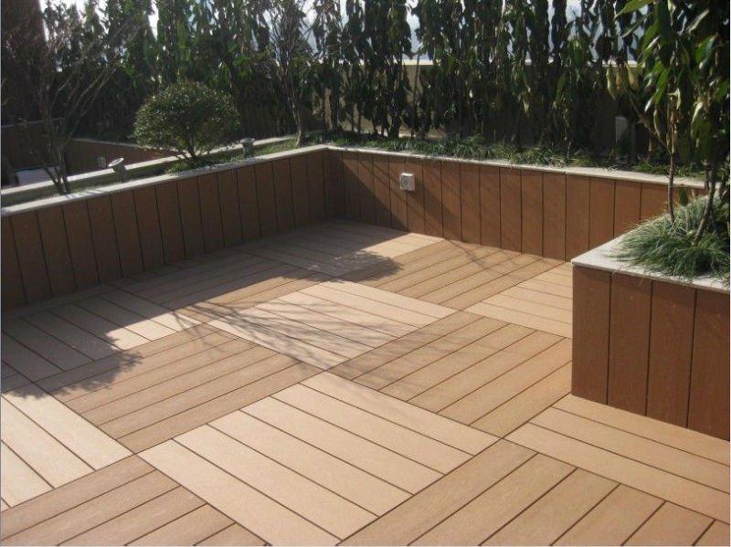 300x300mm Interlock Wpc Diy Outdoor Decking Tileswooden Acacia Deck