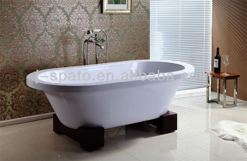 economico semplice molto freestanding vasche da bagno piccole con base in legno-Vasca da bagno ...