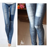 Женские джинсы Fashion Womens jeggings Stretch Skinny Leggings Tights Pencil Pants Casual Jeans[040232