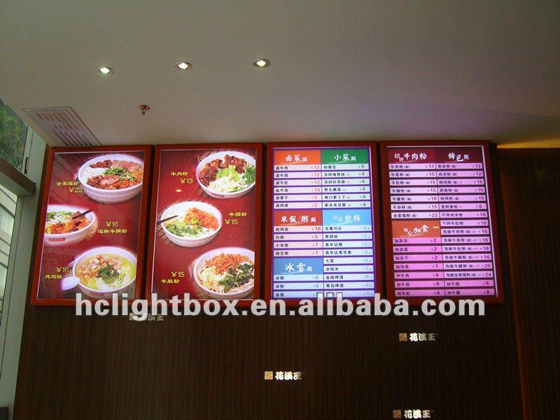 led menu board light box menu light box restaurant picture photo frame