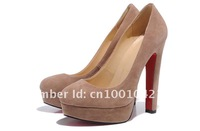 Classic fashion free shipping women's heel shoes suede  platform Pumps shoes 140mm heel