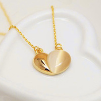 Колье-цепь Fashion Heart Necklaces With Crystal Women Chunky Necklaces Love Letter Pendant Chain For Women Handbag Multicolor Option