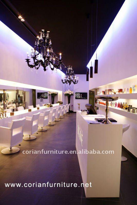 Hair And Beauty Salon Reception Desk New Design Rt-2064 - Buy Salon ...