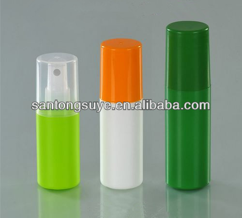60/100/180ml plastic spray bottle with full cover for cosmetic use