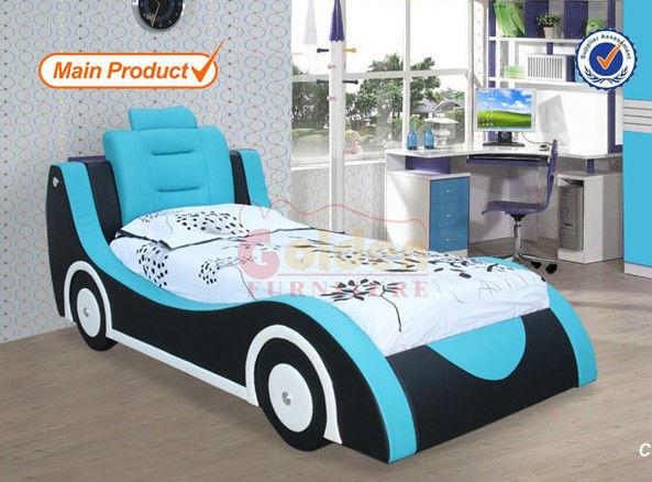 moderno diseo de coche azul camas para nios cama de nio