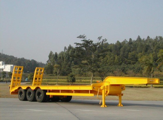 BYF low flat bed semi trailer