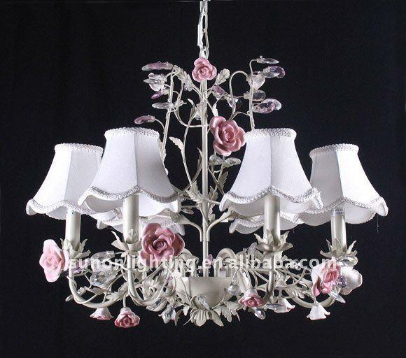 De cer mica de la flor luz l mpara decorativa del techo - Lamparas decorativas de techo ...