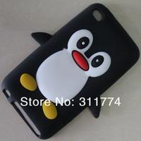 Чехол для для мобильных телефонов 100 Pcs/ Lot Silicone Penguin Case For iPod Touch 4, Mix Color