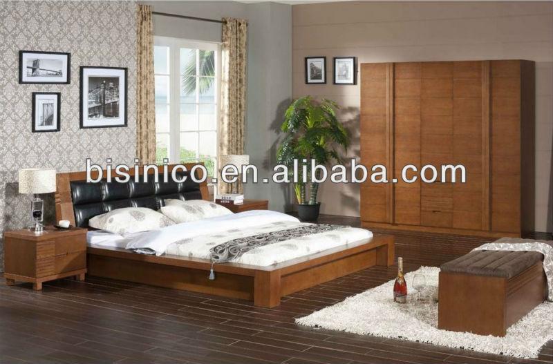 Contemporain chambre en bois massif lit de stockage bois for Set de chambre bois massif