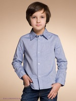 Рубашка для мальчиков School Boys Shirt/ Long Sleeve Shirt/ Teenage Shirt/ School Uniform/ 4 sizes: M, L, XL, XXL for 5-14 years boys
