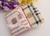 two colors 2012 new High-grade PU leather metal zipper multifunction women's wallets ladies' card holder 10.5*8*2.5