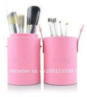 Кисти для макияжа 2012 Hot sell blue colore 7Pcs Professional Makeup Cosmetic Brush Set Kit Tool With cylinder box have 4 colore