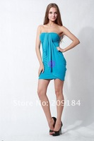 Одежда и Аксессуары Strapless Dignity Custom Fit Sexy Mini dress/ Club wear dress/Cocktail dress+ WZC892