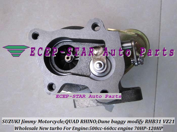 RHB31 VZ21 Turbocharger For SUZUKI Jimmy 500cc-660cc engine MOTORCYCLE QUAD RHINO Dune buggy modify 70HP-120HP (6)