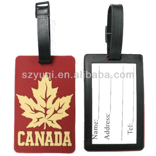 Canada Luggage Tag Pvc Canada Luggage Tag