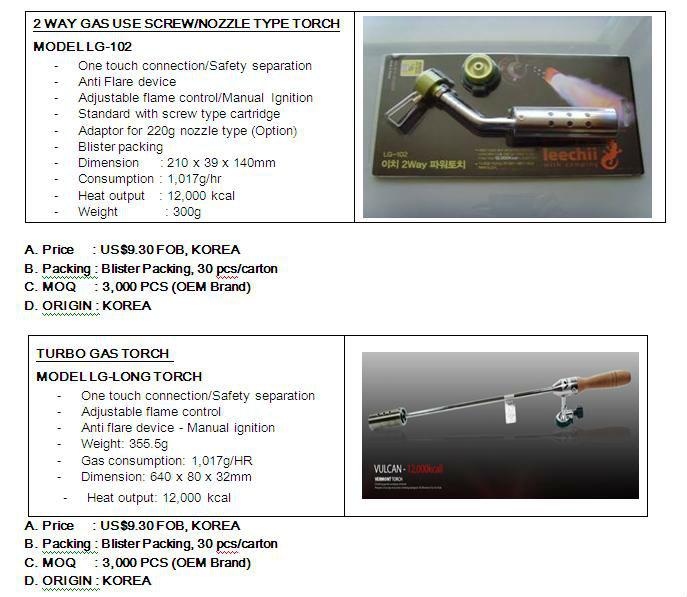 blow gas torch Model LG-001