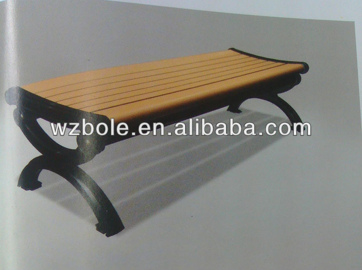 outdoor modern garden or park wooden bench chair