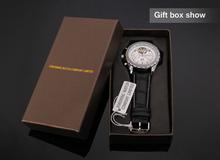 Fashion Mechanical Leather Steampunk Analog Wristwatch