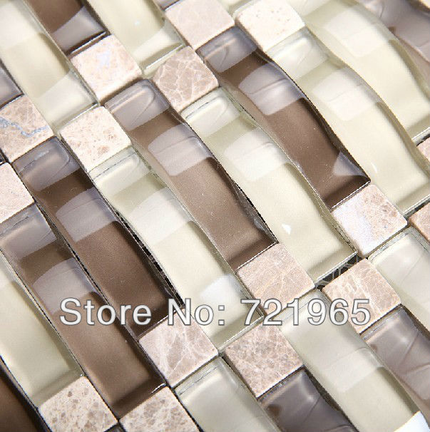 decor mesh arched glass mosaic tiles backsplash cgmt094