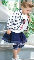Детская одежда дамы Корейский куртка + рубашка + юбка костюм