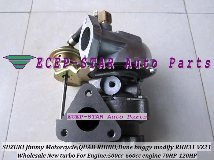 RHB31 VZ21 Turbocharger For SUZUKI Jimmy 500cc-660cc engine MOTORCYCLE QUAD RHINO Dune buggy modify 70HP-120HP (3)