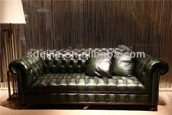 american style wohnzimmer klassiker chesterfield sofa leder türkis ... - American Style Wohnzimmer