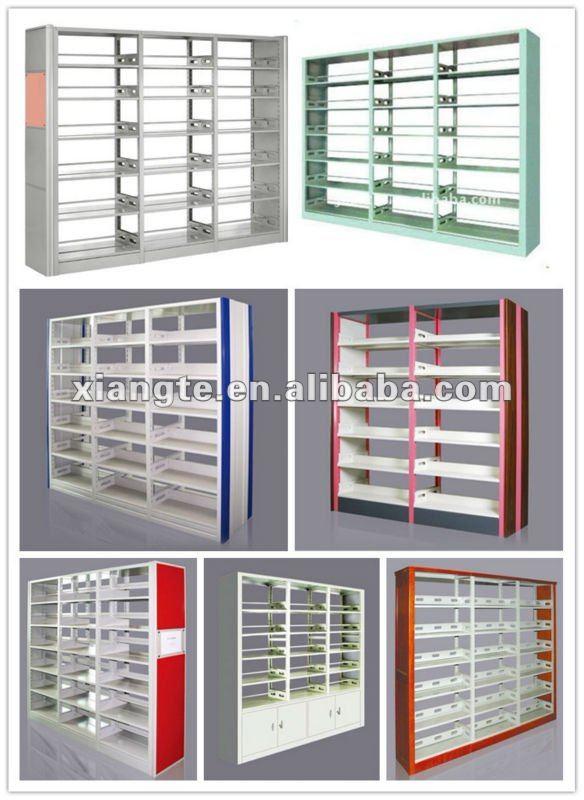 Modern stainless metal book shelf wall invisible bookshelf