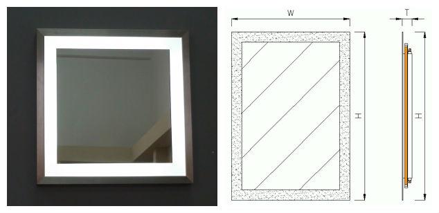 enmarcado espejo con luces led para hotel bao aos de suministro para hoteles