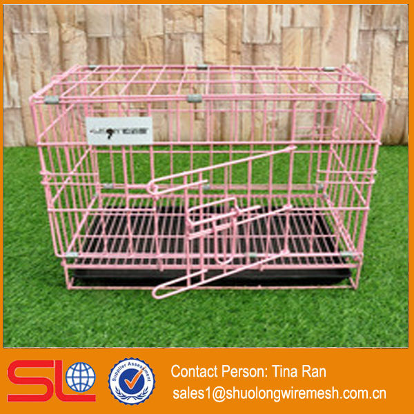 PVC Coated folding metal mesh dog kennel(have stock)