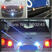 Задние фонари 4pcs 3W High Power LED Larger Lens Ultra-thin car led Eagle Eye Tail light Backup Rear Lamp White Red Color