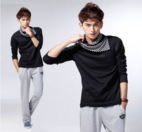 Free Shipping 2012 New Men's Short Sleeve T-shirt Korea's version of short sleeve T-shirt  Fashion Classic T shirt