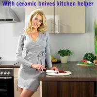 Красота подарки марки высокого качества 6 piece set циркония кухня Керамический нож инструмент набор 3» 4» 5» 6 «дюйм + Овощечистка + держатель ножа
