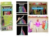novelty orgernizer Magic hangers multi-functional rack air basks in clothings frame folding hooks 8pcs/box/lot