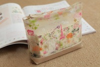 Косметичка HB897 Lovely Girl's Transparent Cartoon Printed Top Zip Cosmetic Bag Storage Bag Drop shipping