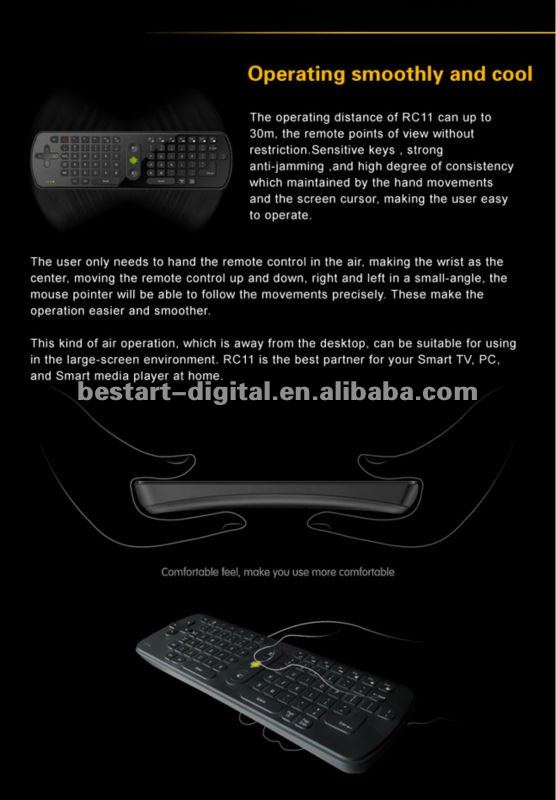 Black wireless air Keyboard mouse