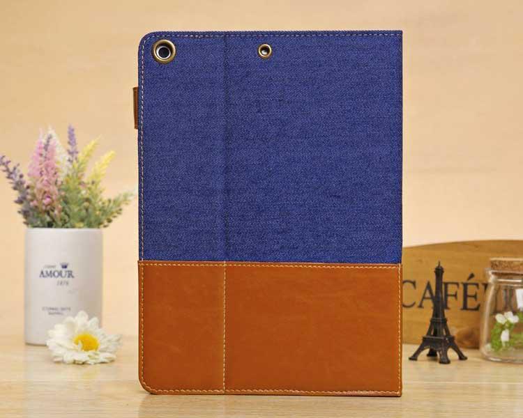Folio leather case for ipad 5. for ipad air folio cover